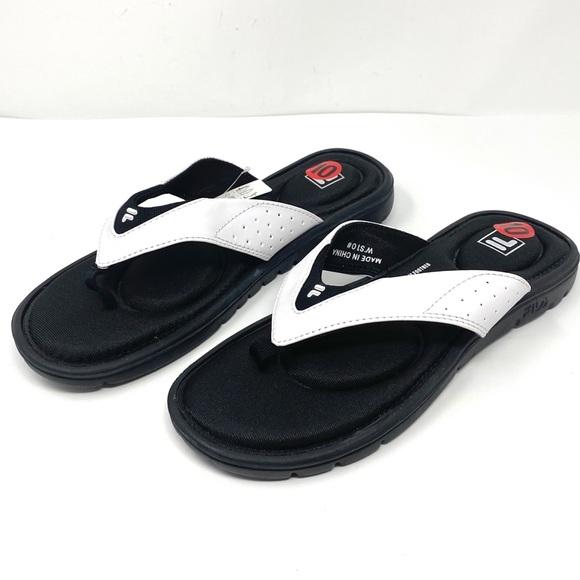 Fila Shoes - NEW Womans FILA  Black & White Memory Foam Sandals